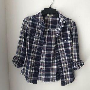 Tops - Plaid 3/4 Sleeve Shirt